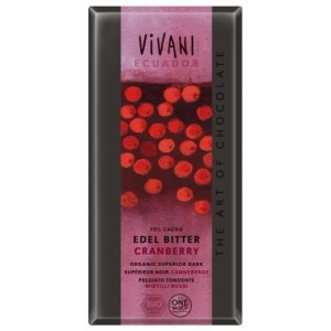 Натурален шоколад с Червени боровинки
